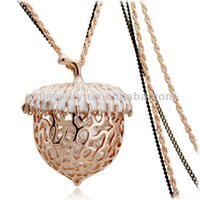 big pine cones - FG gifts high quality fashion k big pine cones pendant long necklace with zircon