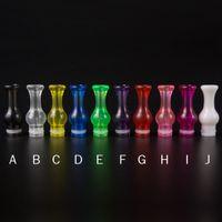 DHL Gratuit Colorful 510 Plastic Drip Tips Embouchure transparent coloré pour EE2 Vivi Nova DCT 510 Electronic Cigarette clearomizer E Cigs