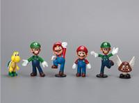 mario bros toy - 18pcs set anime figure PVC doll toy Super Mario Donkey Kong Mario Bros Kids Gifts for Children CM