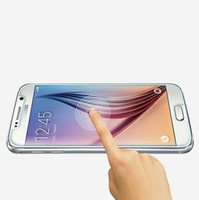 Wholesale Premium Tempered Glass Clear Screen Protector for Samsung Galaxy S6 Edge