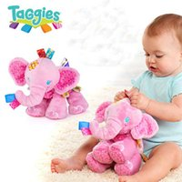 Wholesale Play Pals Pink Elephant Baby Animal Soft Stuffed Plush Doll Puppets Girl Birthday Gift Toys HL