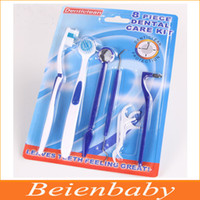 Cheap Free shipping Oral Care Kit Dental Hygiene Oral Clean Tools (8 pc set) Dental Floss Toothbrush