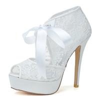 Cheap Lace Pumps High Heel Best Women's Prom Party Evening Dress