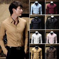 Cheap 2015 male brand men roupa masculina men's shirt Long Sleeve slim fit shirts dudalina camisetas hombre blousesC0003