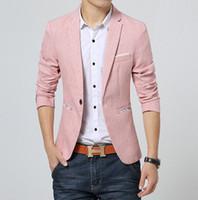 Wholesale Hot Sale Suit Jacket Men Blazer Masculino Suits Jackets Men s Bright Color Casual Blazer Color Gray Pink Light Blue Size XL