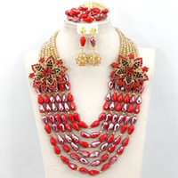 american bridal shops - Free shopping Water drop design african jewelry set Romantic direct selling african beads jewelry set bridal jewelry sets wedding jewelry