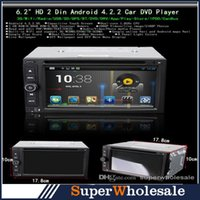 Wholesale NEW Universal Android Auto Car DVD Player GPS Android Dual Core Inch Black Color Din SCYF0405