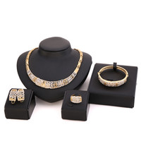 african jewelry set - Jewelry Set Chunky Necklace and Bangle Sets Designer Vintage African Costume Women Wedding Accessories Gold Plated jewellery CT057