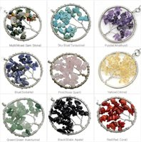 american chips - 2015 Natural stone Gravel Round Shape gemstone jewelry chip stone beads semi precious stone crystal Keychain pendents necklace for women