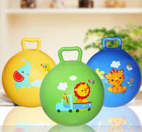 Wholesale Children inflatable handle ball toy non toxic thickening inch shaking ball baby Hand grip ball