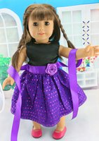 american beautiful - Fashion Christmas Gifts For Children Girls Doll Accessories Princess Purple Dress For Beautiful American Girl Dolls