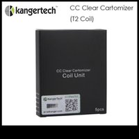 Wholesale Kanger T2 coil head cc clear cartomizer coil unit long wick mm T2 CC clearomizer changeable coil head ohm ohm