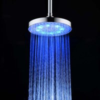 bathroom showerheads - 8 quot inch cm Temperature Sensor Round LED Shower Head LED Changing Bathroom Showerheads Rain Water Rainfall Shower Head