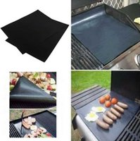 barbecue electric - 2pcs set sets Reusable Non Stick Surface BBQ Grill Mat cm Mats Easy To Use Cleaning Grilling Mat