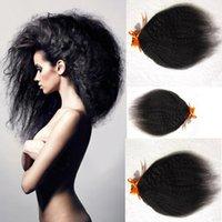 Wholesale 3pcs A afro kinky straight coarse yaki Italian yaki virgin human hair malaysian hair weave
