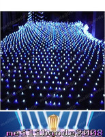 Bleu de haute puissance 200 LED 2m * 3m Lumière Net Net Mesh Fairy Lumières Twinkle Lumière Noël Mariage LIVRAISON GRATUITE MYY1662