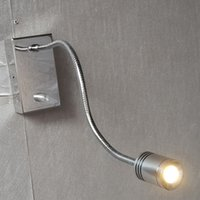 Wholesale Lighted headboards wall lamp Knob Dimming Alumimum hose Flexible top CREE LED W LM Elegant Chrome Finish