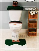 bathroom tissue sale - Hot Sales Xmas Santa Toilet Seat Cover Set amp Tissue Box And Rug Bathroom Set Christmas Decorations SV011780