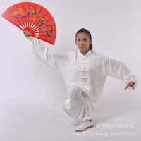 Wholesale and retail of heavy cotton and martial arts practice tai chi clothing costumes and white men and women