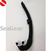 Wholesale Popular price spearfishing full silicone snorkel foldable snorkel scuba dive snorkel Black