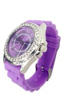 Wholesale Classic Geneva Diamond Watches For Women Gift Watches Good Silicone Nice Gift Package Factory Sales