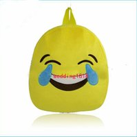 Wholesale Lovely Emoji Smiley kid School Bags children yellow backpack new style for hot selling Christmas gifts Quick ship