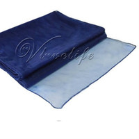Wholesale Navy Blue Sheer Organza Table Runner quot x quot Wedding Party Decoration order lt no track