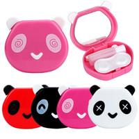 Wholesale Contact Lens Box Cartoon Panda Candy Color Contact Lens Box Case For Eyes Care Kit