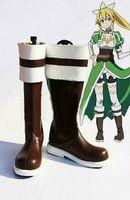 alo sale - 2015 Rushed Sale Time limited Boots Sapatos Femininos Sword Art Online Alo Lyfa Leafa Suguha Kirigaya Cosplay Boot Shoes Shoe