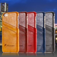 apple business iphone - Business Style Luxury Leather Case For Apple Iphone S inch Fashion Wallet Card Holder Wax Phone Pouch Cover For Iphone6 s