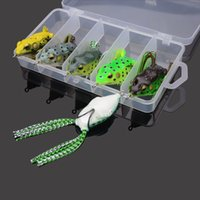 Cheap Allblue High Quality 5pcs Kopper Live Target Frog 58mm 12g Snakehead Lure Topwater Fishing Lure Soft Bait pesca isca Artificial