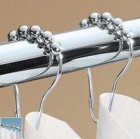 Wholesale Polished nickel plating metal Rollerball Shower Curtain Rings Curtain Hooks gourd shape hook x4cm