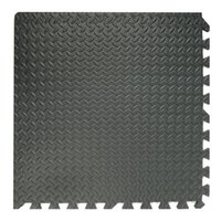 acrylic floor mats - 1Pc Black Interlocking Eva Foam Mats Tiles Gym Play GARAGE Workshop Floor Mat Brand New