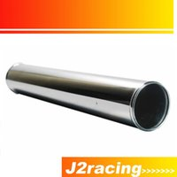 Wholesale J2 RACING STORE MM LENGTH SLIVER POLISHED HARD ALUMINUM PIPING DIY TURBO INTERCOOLER STRAIGHT PIPING PQY PP