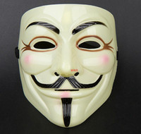 Wholesale 100pcs new arrive V for Vendetta Yellow Mask with Eyeliner Nostril Anonymous Guy Fawkes Fancy Adult Costume Halloween Mask D168