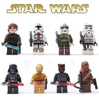 Wholesale Building Blocks STAR WARS Clone WAR Commander Troopers Captain Darth Vader Minifigures Buliding Blocks Toys