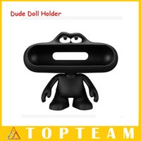 big wholesale - Portable Bluetooth Speaker Wireless Big box Pill Speaker Dude Doll Holder MIni Speaker NFC Bluetooth Speakers Lightweight Audio Player