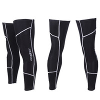 Wholesale Universal Black Autumn Winter Windproof Warmth D Cutting Fleece Jacket Leg Bike Warmers Cycling Leg Warmer Sets CYC_354