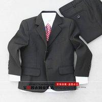 Wholesale Custom Made Kid Notch Collar Children Wedding Suit Boys Attire Jacket Pants Vest Shirt Tie Bow Socks