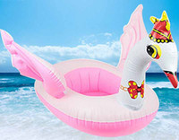 Cheap Wholesale-Giant Swan Inflatable Ride-On pool chair boias inflaveis para piscina donut pool toys swim trainer Float Swan Swim Ring For Kids