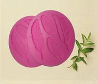 Wholesale Creative DIY Leaf Shaped Fondant Mold D Silicone Chocolate Mould Cake Decor Silicone Fondant Mould FM068