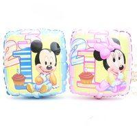 inflatable cartoon - 10pcs set inches Square Cartoon Mickey Minnie Mouse inflatable foil air balloons kids Holiday gifts Birthday party decorations supplies