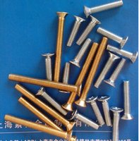 Wholesale For Galvanized carbon steel color zinc Phillips countersunk head machine screws flat machine M5 GB819