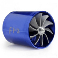 Wholesale Hot Sale Blue Double Supercharger Fuel Gas Saver Fan Universal Turbine Turb Air Intake