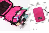 Wholesale Travel Mate Bag Cosmetic Bags Storage Pouch Purse Travel Cosmetic Bag Organizer Handbag Nylon Dual Zipper Makeup Bags