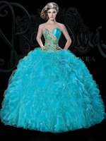 colored rhinestones - 2015 bellaseradres Custom Made Quinceanera Dresses Colored Ball Gown Organza Floor Length Sexy Sweetheart Sleeveless Rhinestone Prom dresses