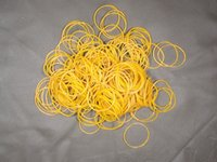 Wholesale 600pcs high elasticity times inch yellow rubber bands for packaging