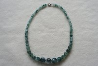 Wholesale Brand New Necklace Natual Jade mm Faceted Gradual Round inch