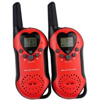 Wholesale 2PCS New Red Radio Walkie Talkie Pair T W UHF Europe Frequency MHz LCD VOX Squelch Fashion Two Way Radio Intercom A7013A