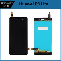 Wholesale Huawei P8 Lite LCD Display Touch Screen Digitizer Glass Panel Replacement Part White Black Gold LCD Screen For Huawei P8 Lite
